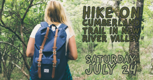 Hike on Cumberland trail in New River Valley @ Near Salsarita's