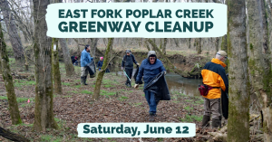 East Fork Poplar Creek Greenway Cleanup @ parking lot by Boys & Girls Club