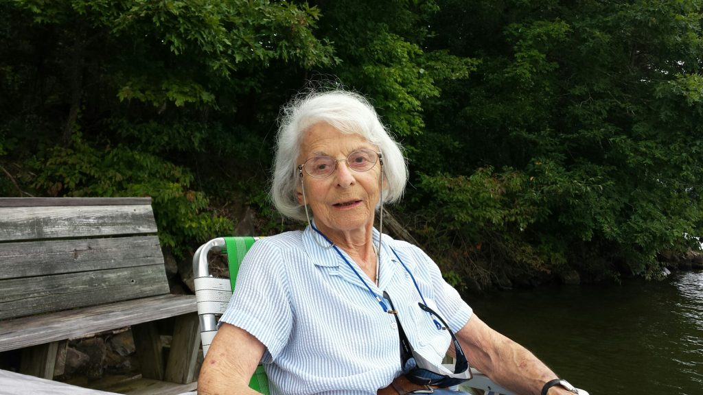 "Lianne ""Lee"" Russell on her Watts Bar dock Aug. 2014"