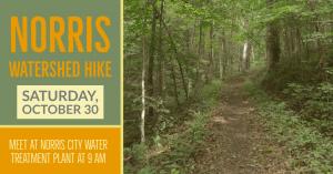 Norris Watershed Hike @ Norris City Water Treatment Plant (