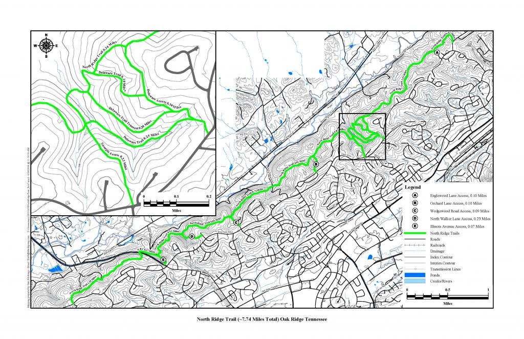 Map of North Ridge Trail