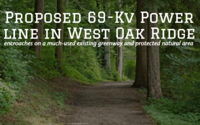 Proposed 69-kV Power Line in West Oak Ridge